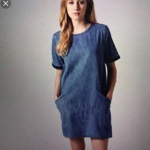 Topshop denim T-shirt dress